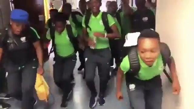 Dance Umbrella news:  South Africa's Women's team dancing on arrival