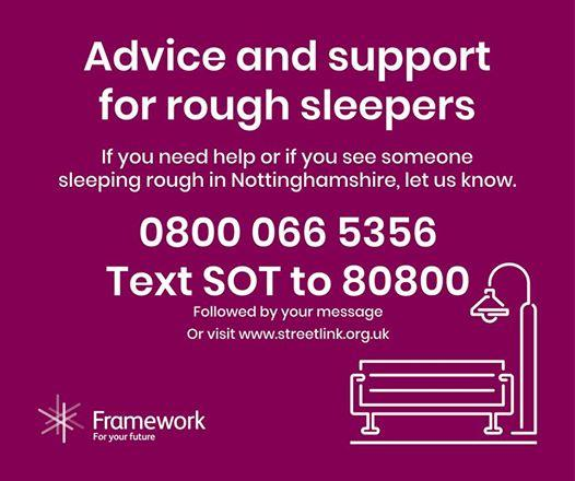 If you see or know of a #homeless person sleeping rough in #Nottinghamshire [Cit...