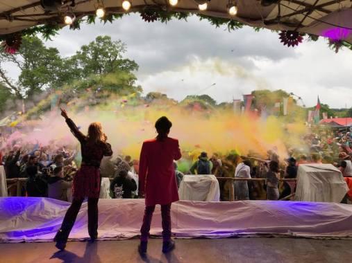 Eden Festival news : Paint fight