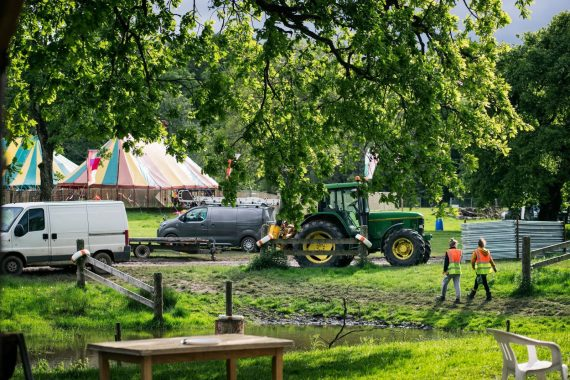 Eden Festival news : The build is in full swing – there is an Eden Festival coming…