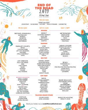 End of the Road Festival news: We've got a treat for all you keen schedulers out there: the official End O