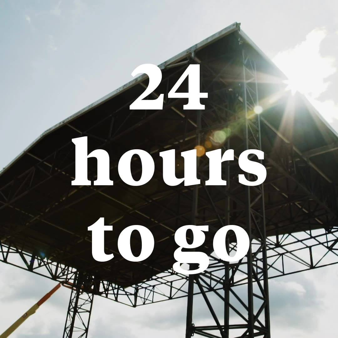24 HOURS TO GO  See you tomorrow London...