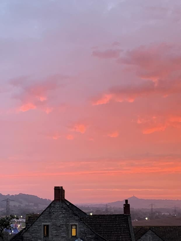 Red sky at night, farmer's delight. #Glastonbury2019