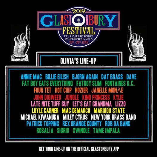 Share your personalised Glastonbury Festival poster with the free official app....