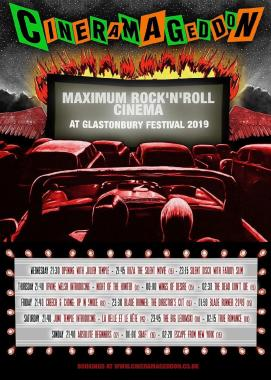 "Glastonbury Festival news: The amazing Cineramageddon ""post-apocalyptic drive-in movie auditorium"" is back …"