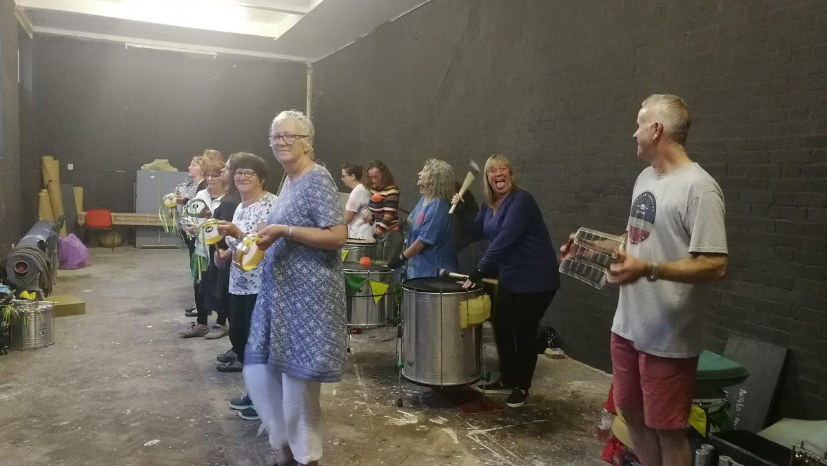 Longa conga Final rehearsals for GoldCoast Oceanfest at Croyde on Saturday, we a...