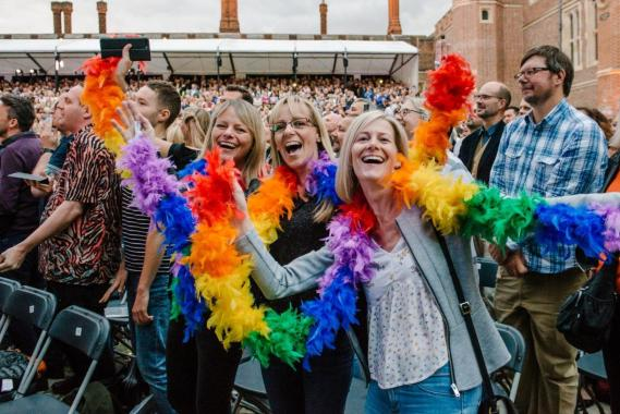 """Hampton Court Festival news : """"When I go out I wanna go dancing…""""  Kylie has us wanting to go out dancing, n…"""