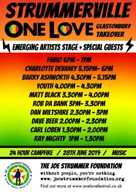One Love Festival news: Who's going join us with our One Love Festival Glastonbury Stage take over