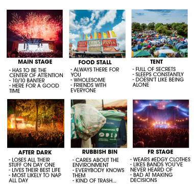 READING & LEEDS FESTIVAL NEWS: Which Leeds Festival area is the most relatable?