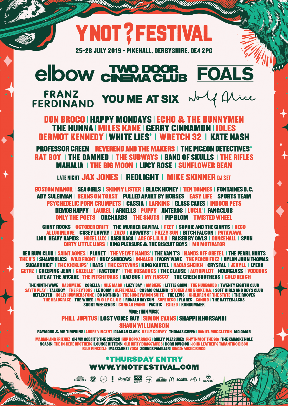 THE Y NOT 2019 LINE UP IN ALL ITS GLORY...