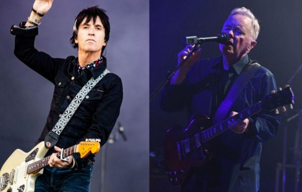NME Festival blog: Watch Johnny Marr and New Order's Bernard Sumner reunite to perform Electronic's 'Get The Message'