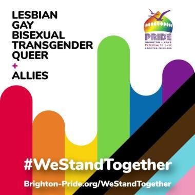 Brighton Pride news:  WeStandTogether social v1anim