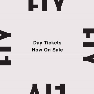 FLY Open Air news : Due to popular demand.. Day tickets NOW ON SALE   Down to final 25% of tickets s…