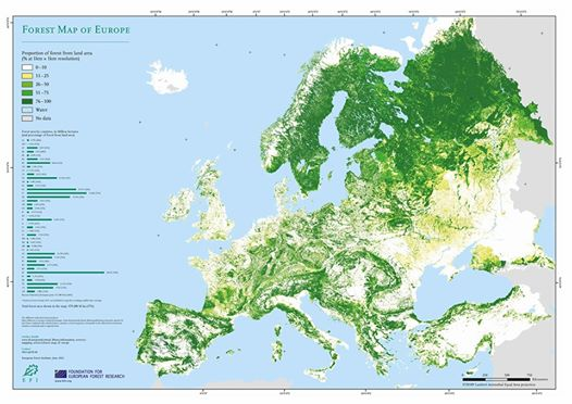Into the Wild Festival news: Great Map of forests in Europe, got to say Britain and Ireland are looking prett