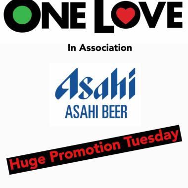 One Love Festival news: Asahi Drinks Partner huge promotion Tuesday – One Love Festival 2019