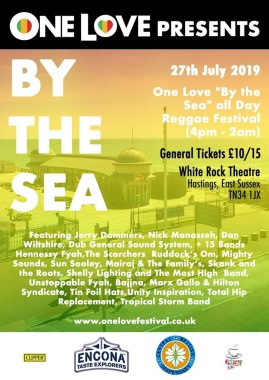 "One Love Festival news: Big Buzz on this years ""By The Sea"" tickets are ONLY still £10 – but will sell o…"