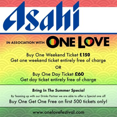 One Love Festival news: Buy One Get One Free on 500 tickets only –