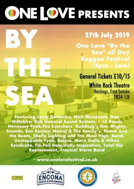 One Love Festival news: By The Sea – all day Reggae festival – One Love Festival 2019
