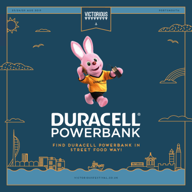 Victorious Festival news: Duracell Powerbanks are partnering with Victorious Festival as the exclusive cha…