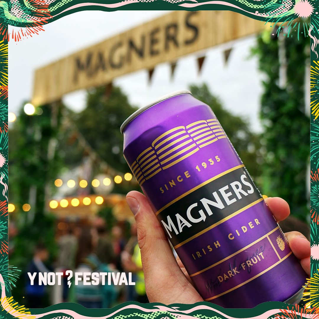 Get refreshed at Y Not this year, with a cold @magnersuk