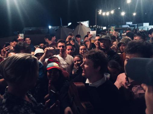 Barn on the Farm news: Our main man Lewis Capaldi creating his own stage in the campsite. Big love…