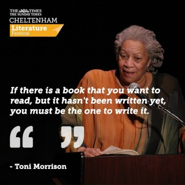 Cheltenham Festivals news : We're devastated to hear of Toni Morrison's passing, we were privileged to welco…