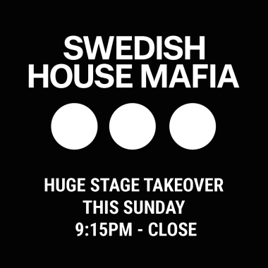 Creamfields news : This weekend we make history with Swedish House Mafia….
