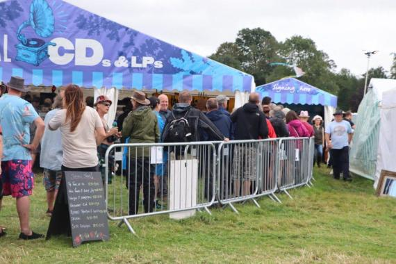 Cropredy news : Our wonderful Signing Tent, conveniently placed next to the CD Store. Just sayin…