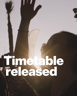 Timetable released 🌴