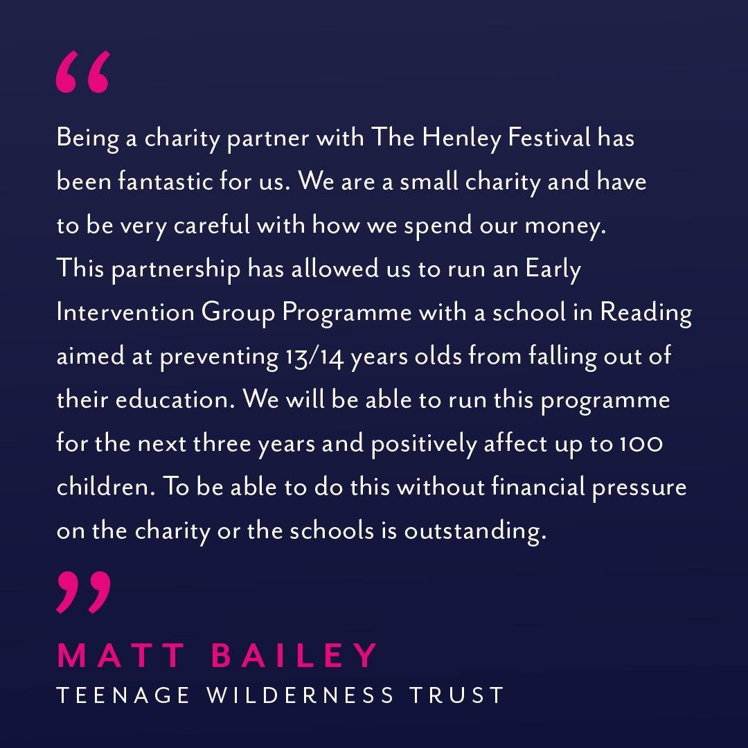 Another big thank you to everyone who bought tickets for Henley Festival 2019!...