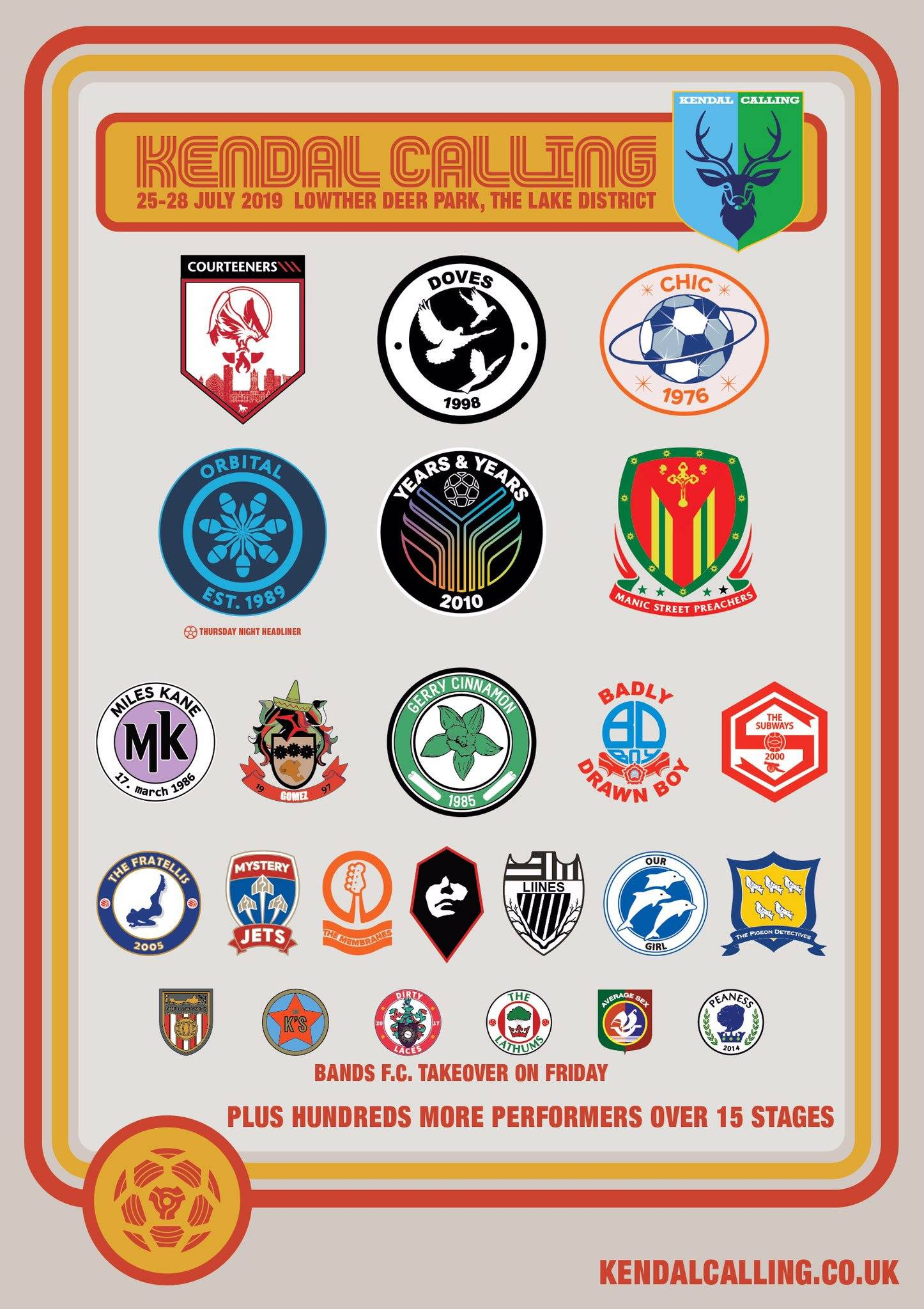 Kendal Calling 2019 reimagined by Bands FC...