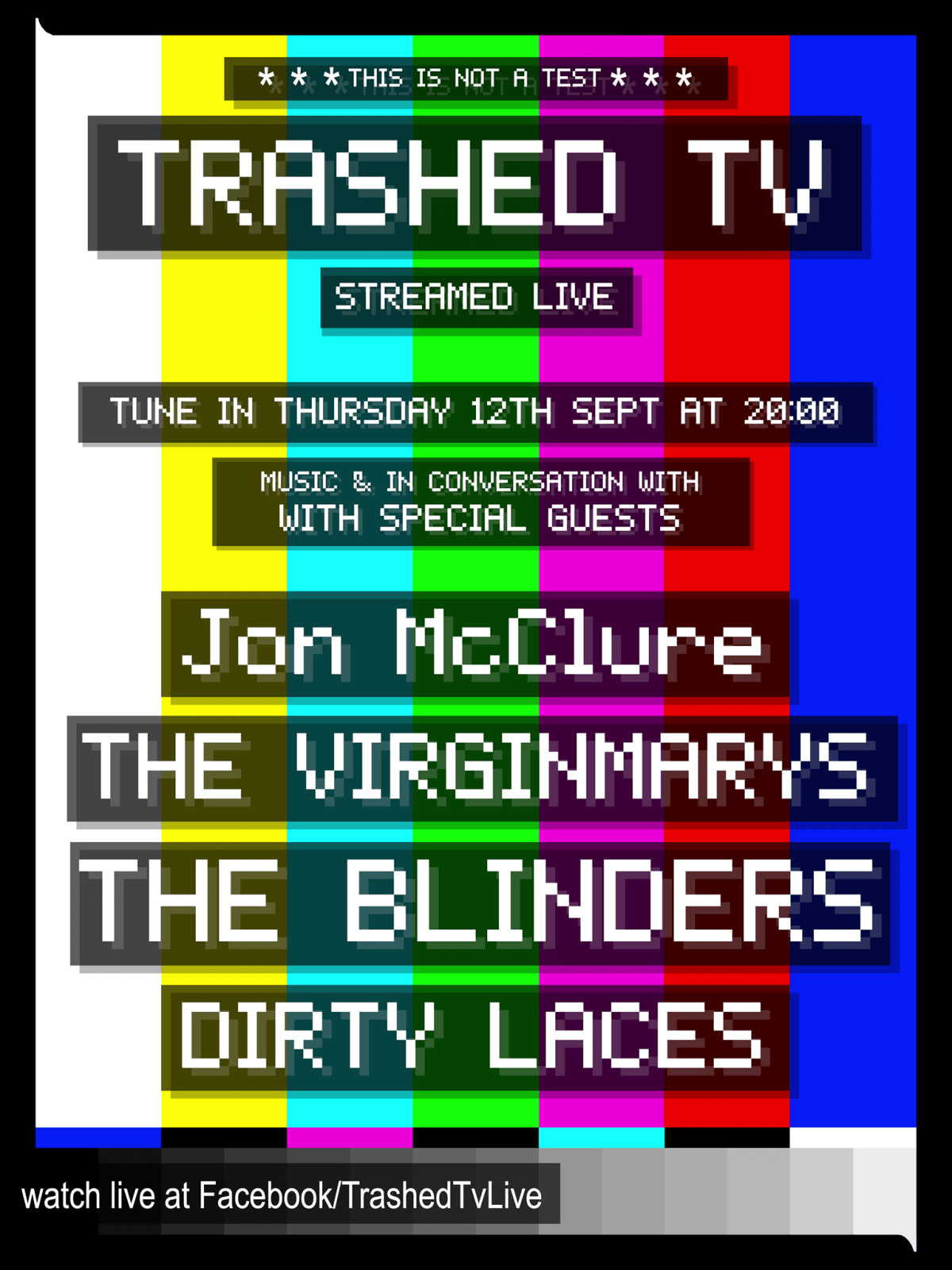 Our friends at Trashed TV are LIVE tonight from 8pm......
