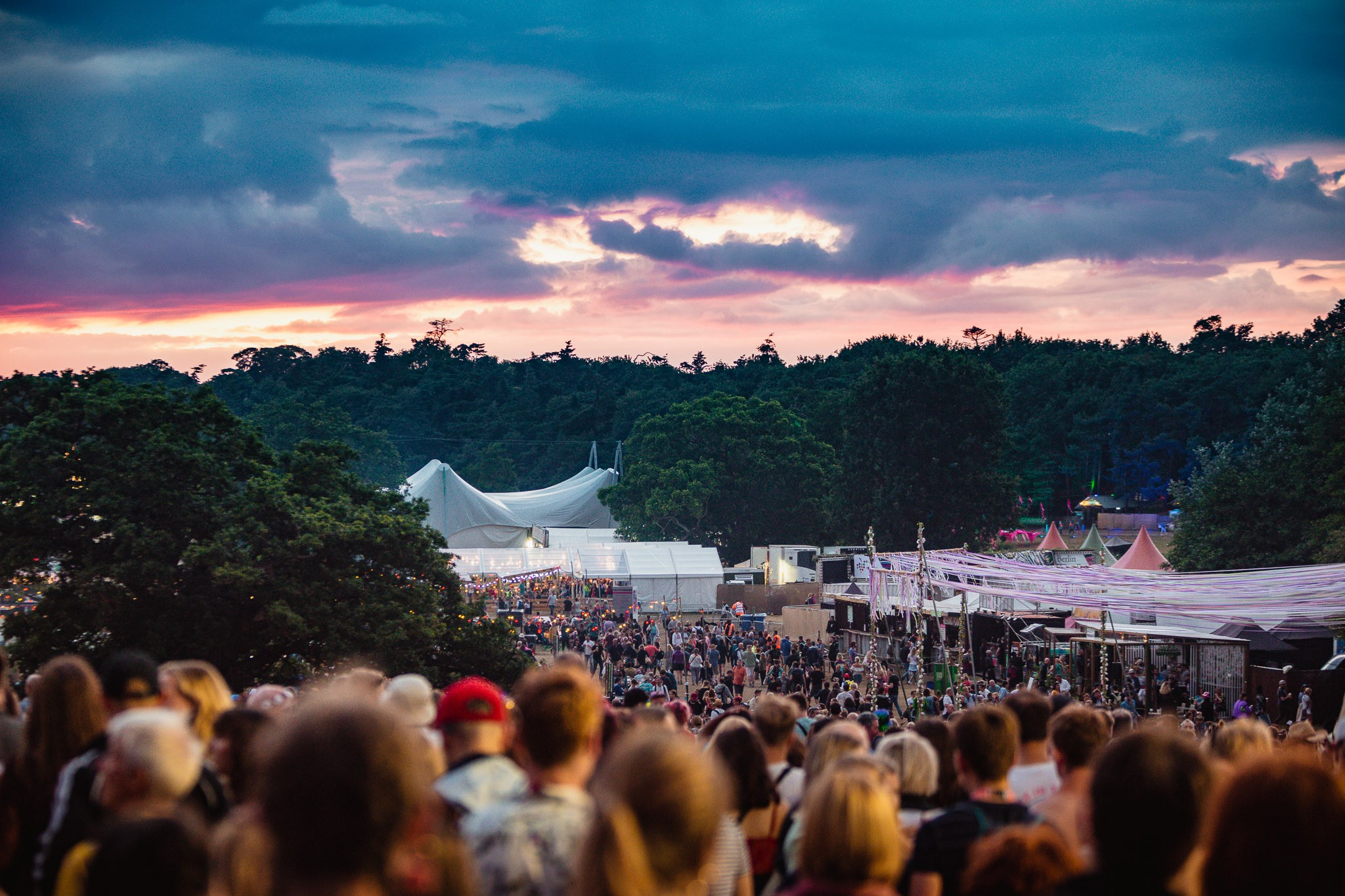 The sun setting on another day at Latitude  Weekend tickets for Latitude 2020 ar...