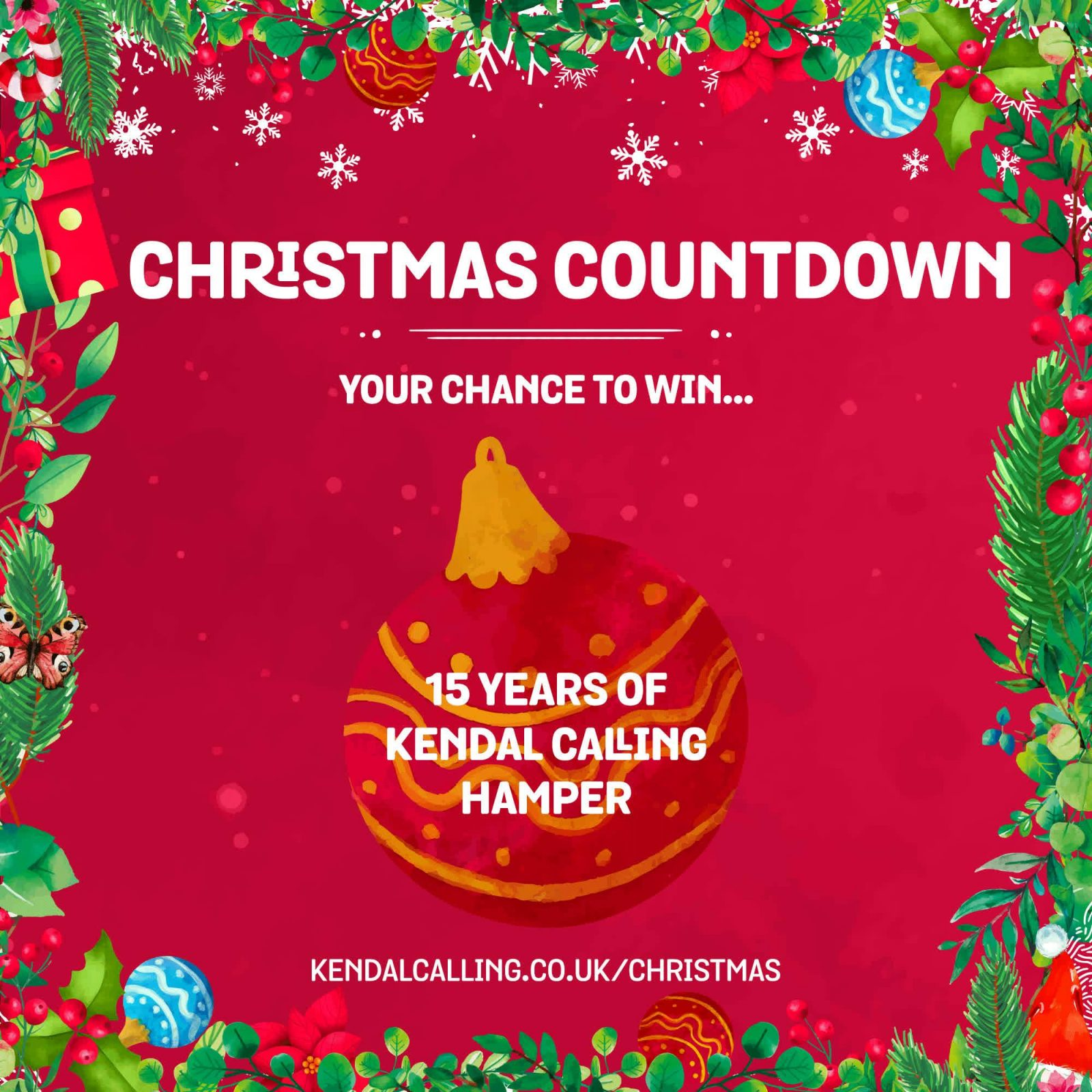 Our Kendal Calling Christmas countdown is here! Your chance to win some of the f...