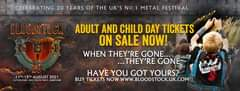 """Image may contain: one or more people, text that says """"CELEBRATING 20 YEARS OF THE uK'S NO.1 METAL FESTIVAL BLOODSTOCK 20 11TH-15TH 5TH AUGUST 2021 CATTON WALTONO TRENT ADULT AND CHILD DAY TICKETS ON SALE NOW! WHEN THEY'RE GONE.. ...THEY'RE GONE HAVE YOU GOT YOURS? BUY TICKETS NOW WWW.BLOODSTOCK.UK.COM"""""""
