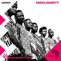 "Image may contain: 6 people, text that says ""SANTROFI #SOULIDARITY SOULIDARITY.ORG GHANA"""